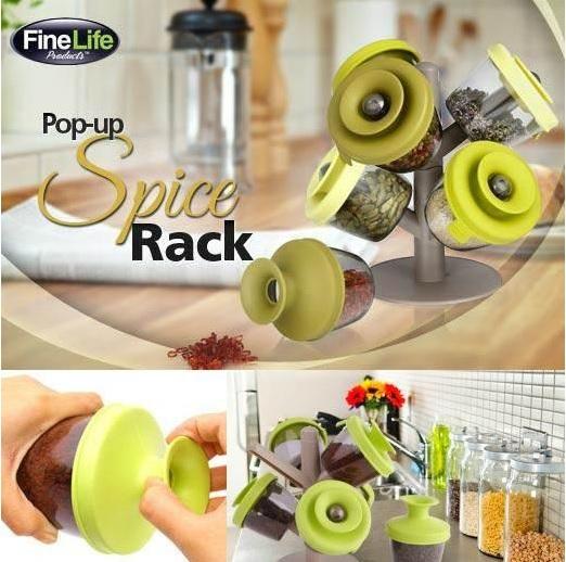 جا ادویه اسپایس رک Spice Rack - جا ادویه طرح گل