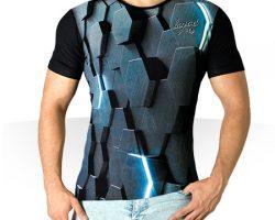 تی شرت سه بعدی Hex - تیشرت آستین کوتاه مردانه