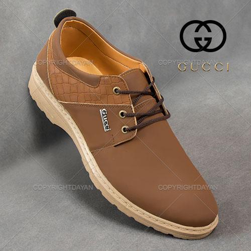 کفش مردانه Gucci مدل Holstad (قهوه ای) - کفش رسمی مردانه