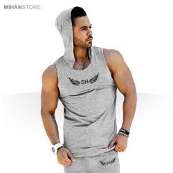 ست رکابی کلاه دار و شلوارک SH – لباس تابستانی مردانه