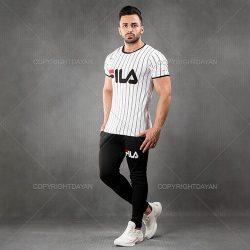فروش ست تیشرت شلوار Fila مدل Jorika (سفید و قرمز)