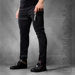 فروش شلوار اسلش مردانه راه راه Benzo رنگ مشکی و سفید