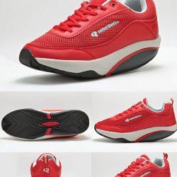کفش پیاده روی پرفکت استپس بنددار سری آرمیس زنانه قرمز