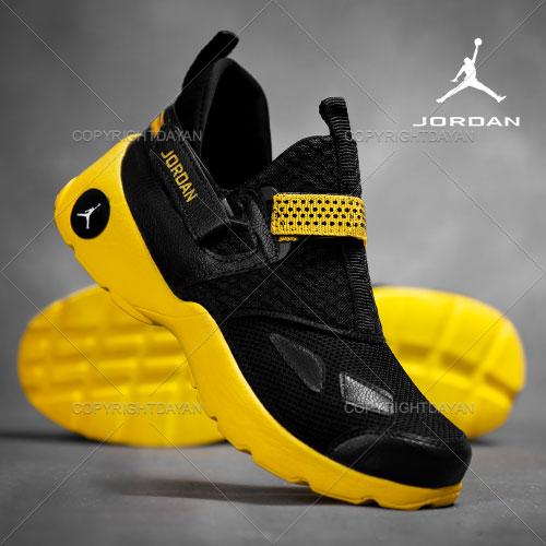 فروش کفش مردانه Jordan مدل Hira (زرد مشکی)
