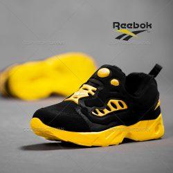 فروش کفش مردانه Reebok مدل Rasel (مشکی زرد) – کتانی ریباک