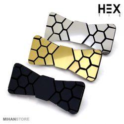 فروش پاپیون سه بعدی Hex – خرید پاپیون ۳ بعدی براق هکس