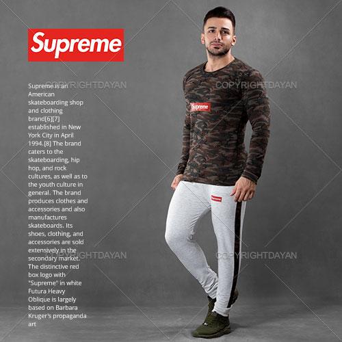 فروش ست تیشرت و شلوار مردانه Supreme مدل S2085
