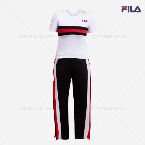 فروش ست تیشرت و شلوار زنانه Fila مدل D1126 - پوشاک زنانه