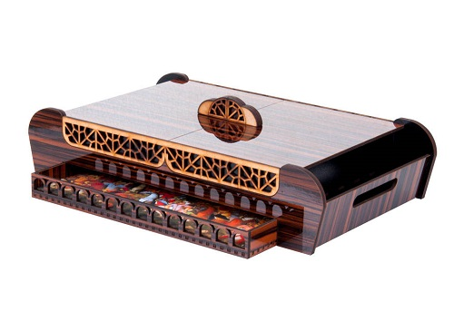 جعبه چای کیسه ای مدل نارون - جعبه و سینی چوبی دمنوش