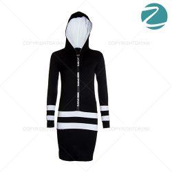 فروش تونیک مشکی کلاهدار زنانه Zima مدل L2502
