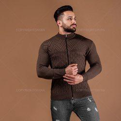 بافت مردانه Kiyan مدل E1499 قهوه ای – لباس گرم