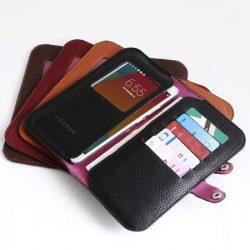 فروش کیف پول و موبایل و جاکارتی طرح چرم Borna
