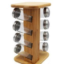 جا ادویه طرح چوب ۸ پارچه پی بست گیفت مدل ۱۰۰۴۵