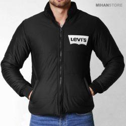 فروش کاپشن مردانه Levis طرح Bork – کاپشن مشکی