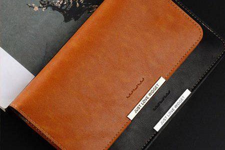فروش کیف چرم پول و موبایل قهوه ای و مشکی