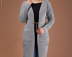 فروش مانتو بافت Nela مدل L3344 - لباس گرم زنانه