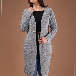 فروش مانتو بافت Nela مدل L3344 – لباس گرم زنانه