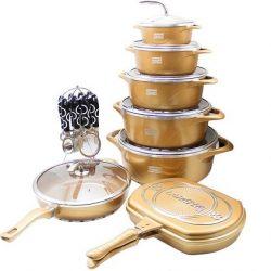 فروش سرویس پخت و پز سرامیکی ۲۳ پارچه لارنزا مدل Golden