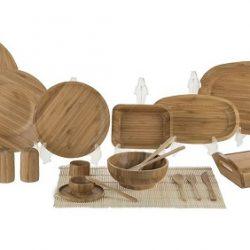 سرویس غذاخوری چوبی ۹۶ پارچه بامبوم مدل BB0235