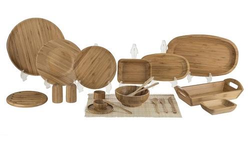 سرویس غذاخوری چوبی 96 پارچه بامبوم مدل BB0235
