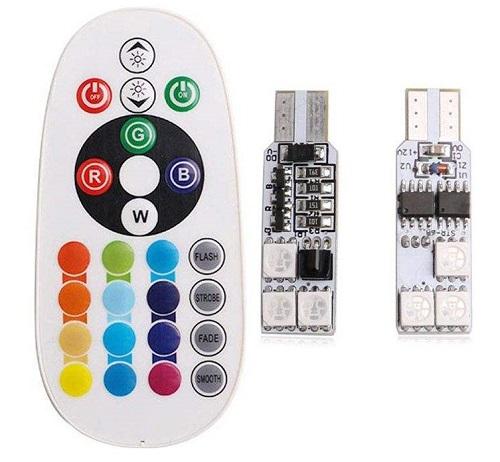 لامپ اس ام دی با قابلیت تغییر رنگ و حالت نوردهی مدل L02 بسته 2 عددی