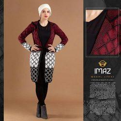 فروش مانتو بافت کلاه دار زنانه مدل Batis و Imaz