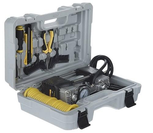 کمپرسور باد خودرو و ابزار به همراه کیف مدل QB0047A