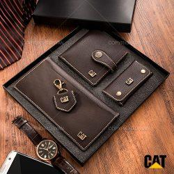 ست هدیه چرمی Cat مدل N9094 – کیف و جا کلیدی چرمی
