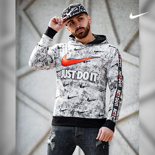 سویشرت کلاهدار مردانه طرح نایکی Nike مدل T8894
