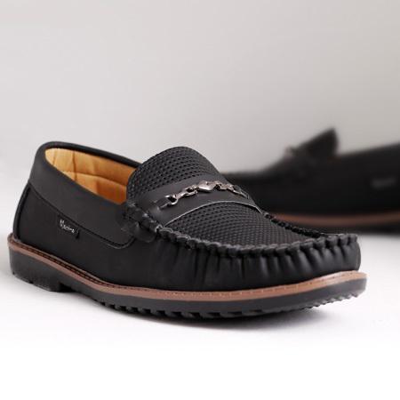 کفش کالج مردانه هورس طرح Loop رنگبندی مشکی