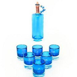 ست بطری و استکان گالری انار مدل باران مجموعه ۷ عددی