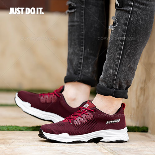 کفش مردانه نایکی Nike مدل F9256 رنگبندی جگری