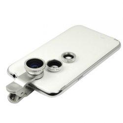 پکیج لنز عکاسی موبایل ۳ کاره – لنز واید ، فیش آی و ماکرو