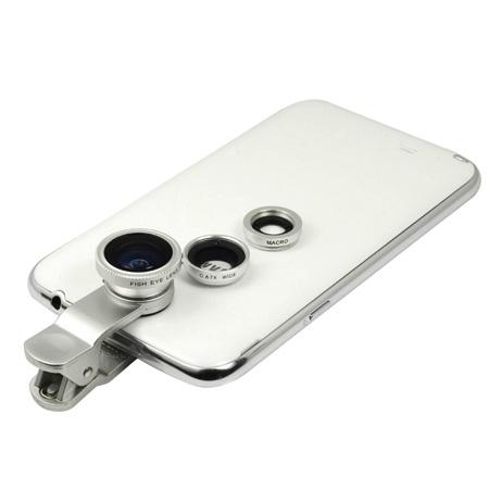 پکیج لنز عکاسی موبایل 3 کاره - لنز واید ، فیش آی و ماکرو