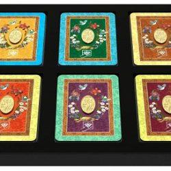 پلاک طلا ۲۴ عیار طلای محمد طرح گل زنبق مجموعه ۶ عددی