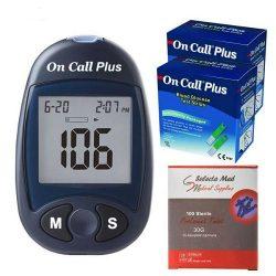 دستگاه تست قند خون ایکان مدل On Call Plus G113-111 + نوار تست و سوزن