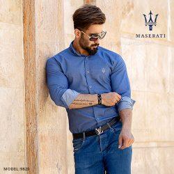 پیراهن مردانه Maserati مدل T9820 – پیراهن طرح جین