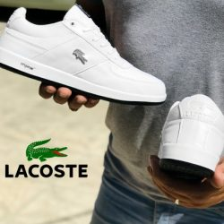 کفش مردانه لاگوست Lacoste – کفش سفید چرم مصنوعی