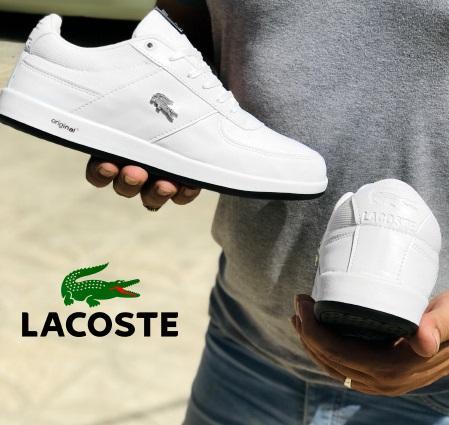 کفش مردانه لاگوست Lacoste - کفش سفید چرم مصنوعی