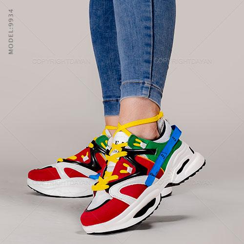 کفش زنانه Brook مدل V9934 - کتانی دخترانه رنگی