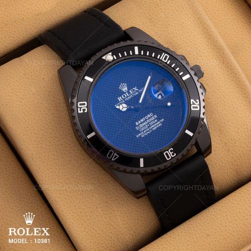 ساعت مچی عقربه ای رولکس Rolex مدل 10381 به همراه روزشمار