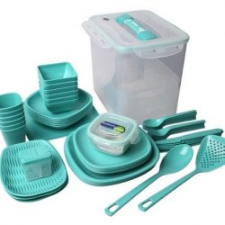 ست پیک نیک لیمون ۶۰ پارچه – ظروف پلاستیکی مسافرتی