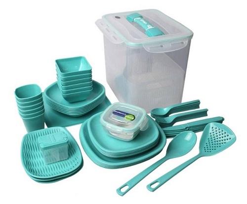 ست پیک نیک لیمون 60 پارچه - ظروف پلاستیکی مسافرتی