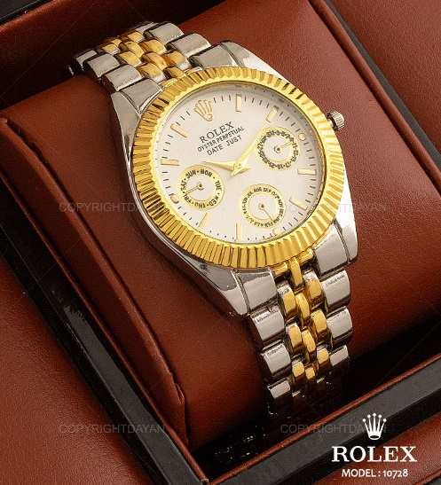 ساعت مچی رولکس Rolex مدل 10728 - رنگ طلای نگین دار