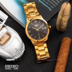 ساعت مچی مردانه سیکو Seiko رنگ طلایی – ساعت رسمی مردانه