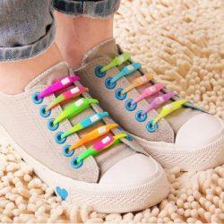 بند کفش سیلیکونی شب نما – پک بند کفش فانتزی رنگی