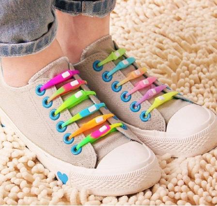 بند کفش سیلیکونی شب نما - پک بند کفش فانتزی رنگی