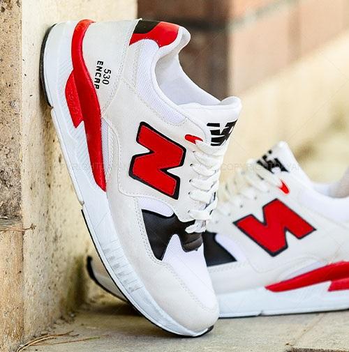 کفش مردانه نیو بالانس New Balance مدل 10622 سفید قرمز