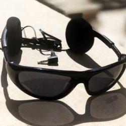 عینک آفتابی و هدست مدل Sunglasses SunHead Headset