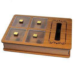 جعبه پذیرایی چوبی لوکس باکس مدل LUX BOX LB12 SERVE BOX